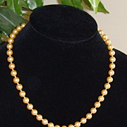 Champagne Colored Simulated Pearls