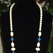 Trifariⓒ Lucite and Gold-Tone Necklace