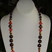 Tunhwa Lucite and Gold-Tone Necklace