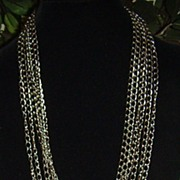 Vintage Silver-Tone Cable Link Chain Necklace