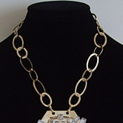 Lucite and Gold-Tone Necklace