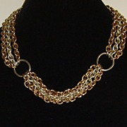 Givenchy Vintage Gold-Tone and Silver-Tone Multi-Strand Necklace