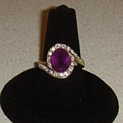Gold-Tone and Rhinestone Ring