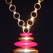 ⓒMonet Gold-Tone and Enamel Necklace