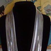 Silver-Tone 12 Strand Chain Necklace