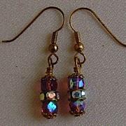 Aurora Borealis Dangle Pierced Earrings