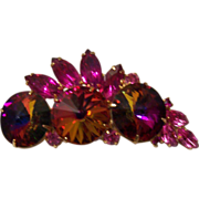 Juliana Volcanic Red Rivoli Brooch