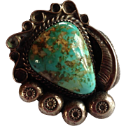 Navajo Artist Pete Morgan Turquoise Ring