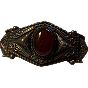 Sterling and Carnelian Bracelet Dated 1942