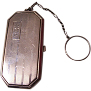 Art Deco Sterling Coin Purse with Mirror