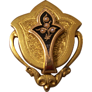 18K Victorian Pendant Brooch