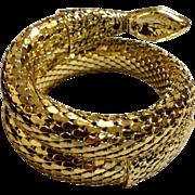 Whiting Davis Mesh Snake Bracelet MINT