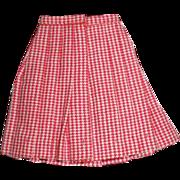 SOLD Red and White Skirt for Skipper Barbie School Girl #1921