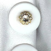 Castlecliff White Earrings with Crystal Center - Free Shipping