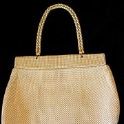 Whiting & Davis Mesh Purse - Beige - Fabulous Condition!