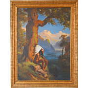 SALE Child of Nature by Robert Atkinson Fox Oil on Canvas