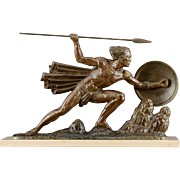 Art Deco Sculpture The Warrior by Bouraine