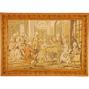 SALE French Framed Victorian Tapestry