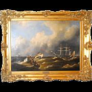 SALE Maritime Oil on Canvas by Govert van Emmerik
