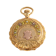 American 14K Gold Hunter Case Pocket Watch by Waltham