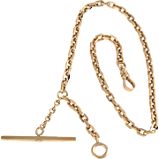 Yellow Gold Pocket Watch Chain by Carter Gough & Co