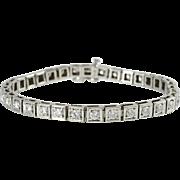 4.28 Carat Total Weight Diamond Tennis Bracelet