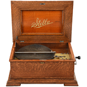 SALE Swiss 15-1/2″ Stella Double Comb Disc Music Box