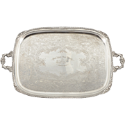 Silver Plate Presentation Serving Tray by Sheffield