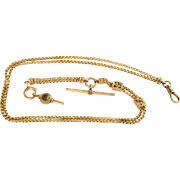 Victorian 14K Yellow Gold Watch Chain
