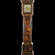 SALE English Chinoiserie Tall Case Clock Signed Hen. Stockar