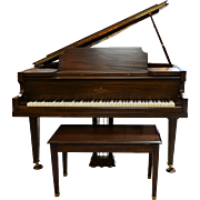 Walnut Baby Grand Piano by Vose & Sons