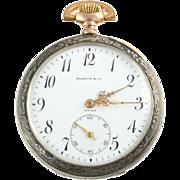 Swiss Sterling Silver Pocket Watch Signed Shreve & Co