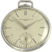 Swiss Mens Platinum Pocket Watch by Patek Philippe