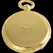 Swiss 18K Gold Hunter Case Pocket Watch by Patek Philippe