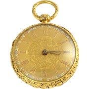 English 18K Pocket Watch by Joseph Johnson