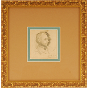 Pencil Drawing Probably a Self Portrait by Hovsep Pushman