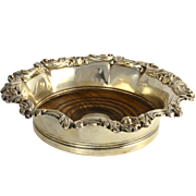 English Victorian Silver Plate Wine Coaster by Mappin & Webb