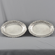 English Pair of Sterling Silver George III Royal Bowls