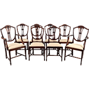 English Set of Hepplewhite Mahogany Dining Chairs