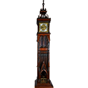 SALE English Rare Gothic Cathedral Form Hall Clock
