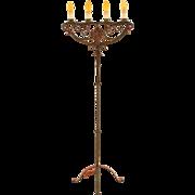 Spanish Revival Four Light Torchiere