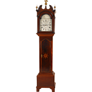 SALE English Tall Case Clock with Engraved and Silvered Brass Dial by John Collings Sodbury