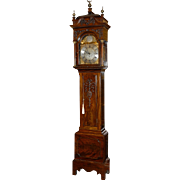 SALE English Hand Carved Mahogany John Gibson Tall Case Clock