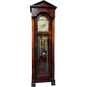 SALE American Tubular Bell Tall Case Clock Marketed by the Royal Furniture Company