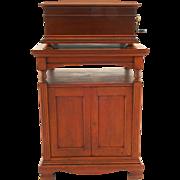 SALE Regina 15.5″ Disc Music Box with Matching Disc Storage Cabinet