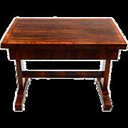 European Biedermeier Square Flip Top Dining Table