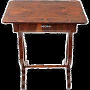 European Biedermeier Mahogany Side Table