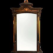 Victorian Ebonized Pier Mirror