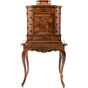 German Baroque Style Jewelry Cabinet