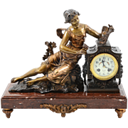 French Figural Mantel Clock by Ruffony
